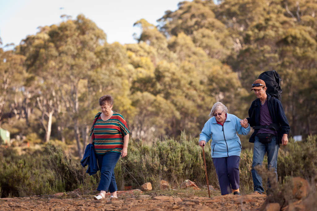 Joy, Mary and Mohammad in Tasmania's Central Highlands