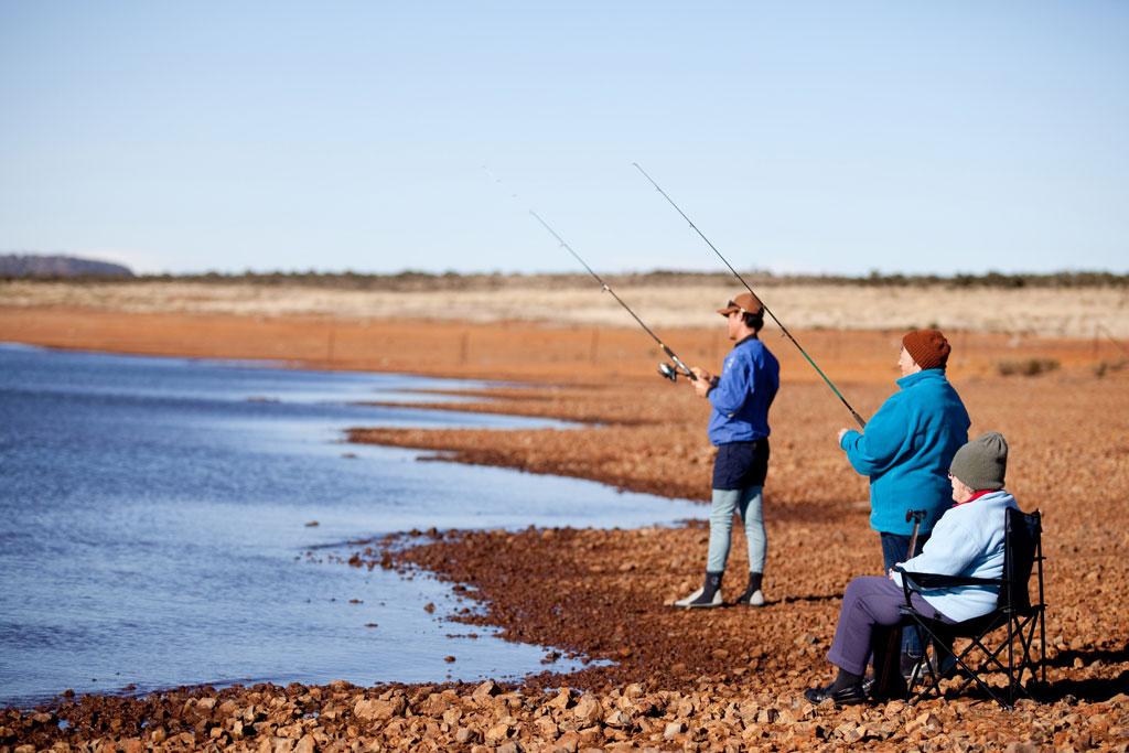 Fishing in central Tasmania
